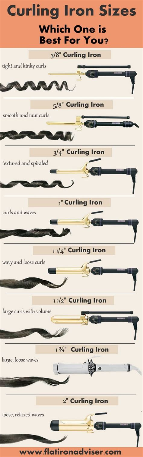 what size curling iron to get for medium to long length hair curling iron sizes guide hūrr pinterest curling