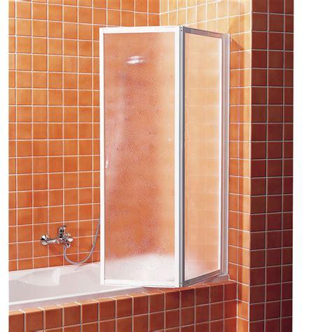 Pare baignoire 2 volets acrylique granité, G02   Leroy Merlin