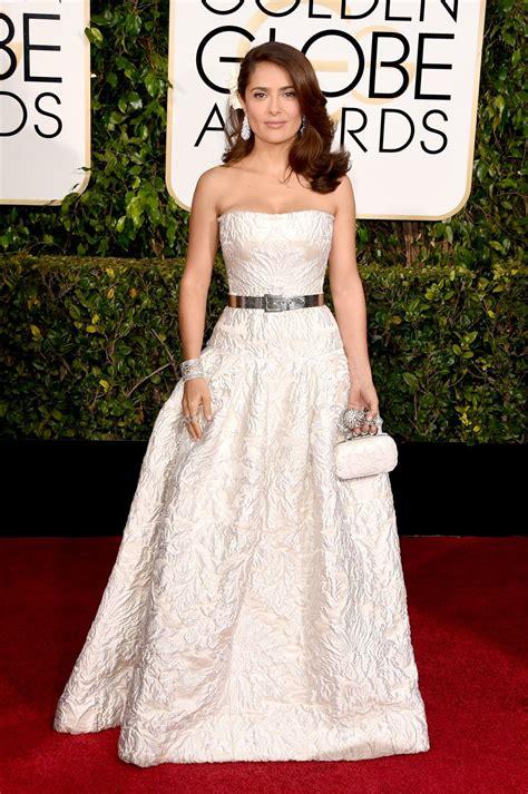 Golden Globes For by Salma Hayek 2015 Golden Globe Awards In Beverly