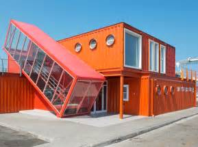 Affordable Barn Homes 7 Bright Red Shipping Containers Repurposed As Modern