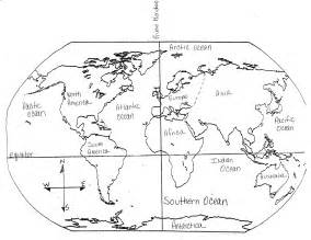 Continents And Oceans Blank Map by Blank Map Of The World To Label Continents And Oceans
