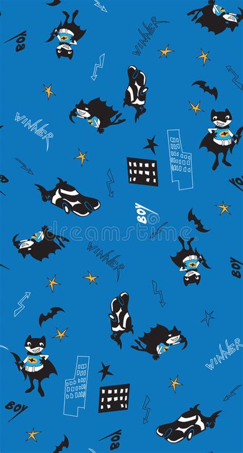batman pattern stock batman fun cartoon boy seamless pattern stock vector