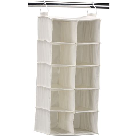 10 pocket hanging closet shoe organizer in hanging shoe