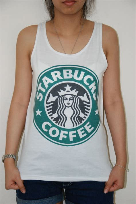 Tangtop Starbuck starbucks coffee logo sleeveless tank top