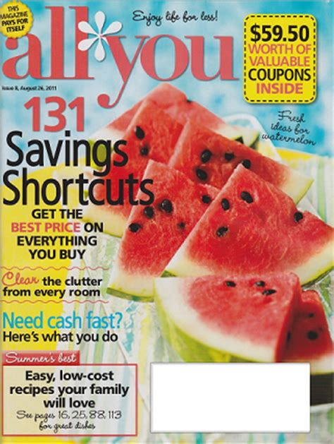 a for all time coupon new coupon for all you magazine