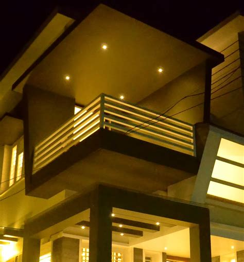 balcony plans real full work completed house in kerala home kerala plans