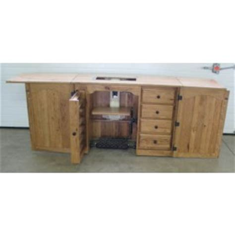 compact sewing machine cabinet amish solid wood