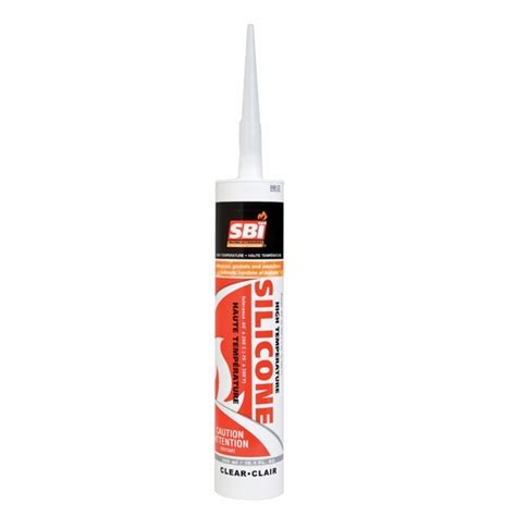 sbi high temperature clear silicone sealant 10 1 ounce