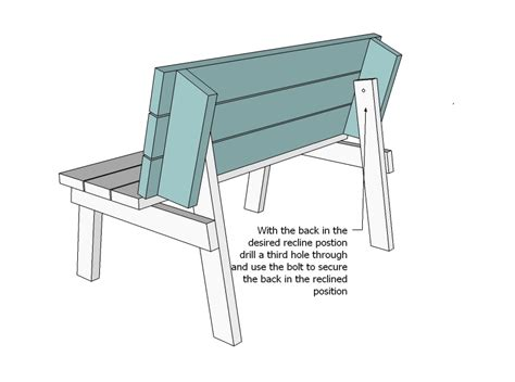 plans  picnic table  converts  benches