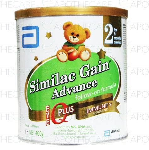 similac advance 2 400g similac gain advance milk powder 400g