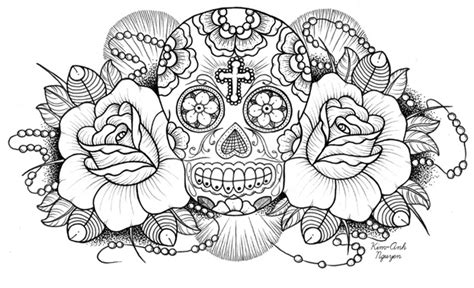 Disney Coloring Pages Sugar Skull Coloring Pages Skulls And Roses Coloring Pages