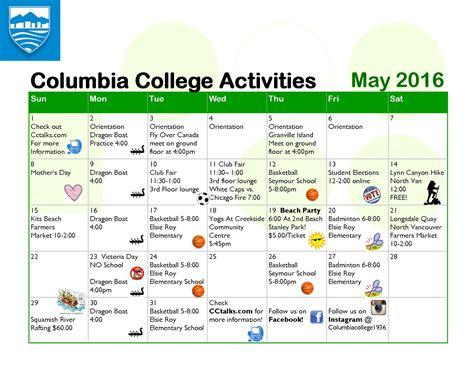 Columbia Academic Calendar Columbia Academic Calendar Calendar Template 2016