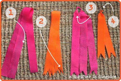 How To Make Paper Streamers - a thrifter in disguise diy crepe paper banner