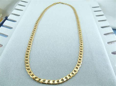 Kalung Al Muslim Platinum collana uomo maglia grumetta oro giallo elegante 59 cm x 0