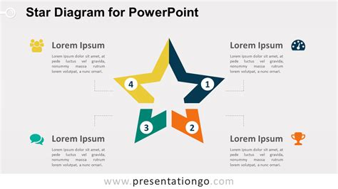 star diagram for powerpoint presentationgo com