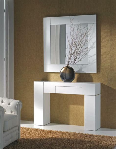 decorar espejo blanco espejos para recibidor para decorar los interiores