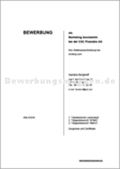 Vorlage Deckblatt Wohnungsbewerbung Bewerbungsmappen De Bewerbungsmappen Pagna Und Durable Musterbewerbungen