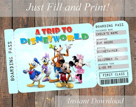printable pretend disney tickets printable ticket to disneyworld disneyland by