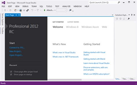 tutorial visual studio 2012 asp net starter new feature visual studio 2012 and net 4 5