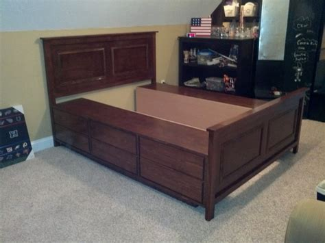 queen storage bed plans bed plans diy blueprints
