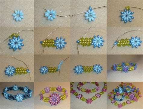 beaded flower bracelet patterns superduo bracelet tutorial from cheekybeads featured