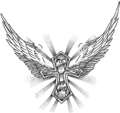 tattoo crosses with wings 50 cross tattoos designs of holy christian