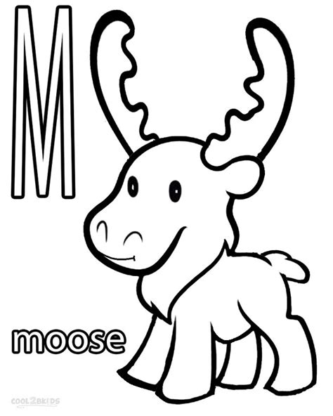 coloring book pages moose moose coloring pages