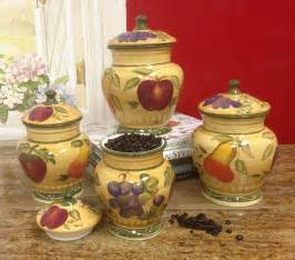 Tuscan Style Kitchen Canister Sets by European Style Tuscan Fruit Grape Kitchen 4 Pc Canister