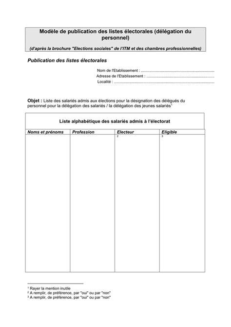 Les listes électorales - téléchargement gratuit documents