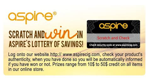 Sweepstakes Forum - aspire and win aspire s scratch win giveaway sweepstakes underway