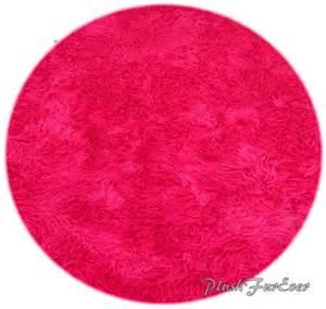 Faux Bearskin Rug Pink Mongolian Faux Fur Nursery Area Round Rugs Sheepskin