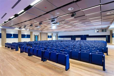 in bank prealpi rollaway seating system auditorium conference room
