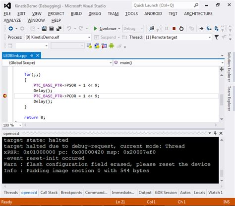 tutorial kinetis design studio creating freescale kinetis projects with visual studio