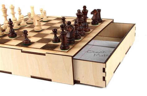 how to make a macgyver style chess set using just nuts gigaom making a maker laser cutting a chessboard