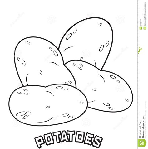 Mash Outline by Potatoes Coloring Page Stock Illustration Image 51223769