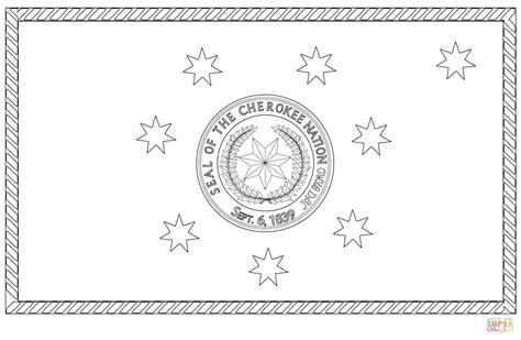 cherokee indian coloring pages flag of the cherokee nation coloring page free printable