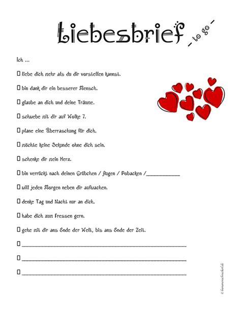 Liebesbriefe Vorlagen Muster liebesbrief to go bananenschneckerl bloggt