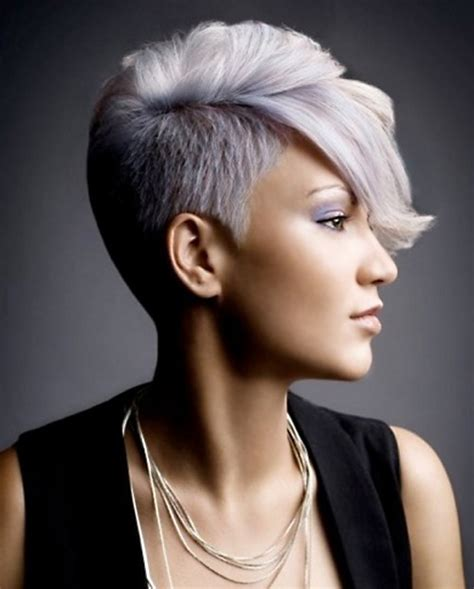 short front and long back grey hair style cute short hair ideas 2012 2013 short hairstyles 2017