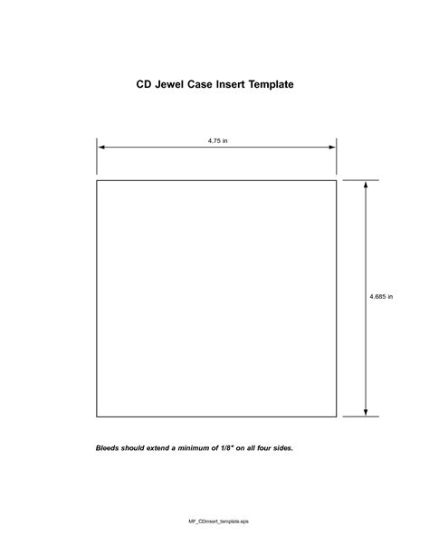 cd tray card template word best photos of blank cd insert template blank cd cover