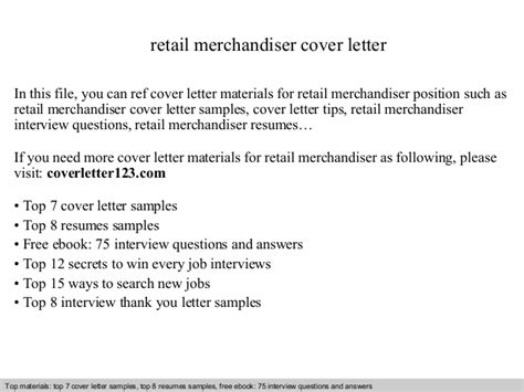 Retail Merchandiser Cover Letter by Retail Merchandiser Cover Letter