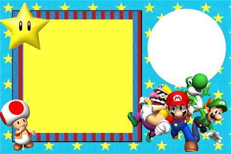 Mario Bros 15 invitaciones de cumplea 241 os de mario bros para descargar