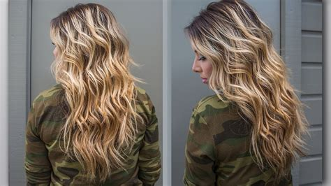 how to create long wavey curls with perm how to perfect beach wave hair youtube