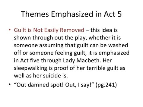 themes macbeth guilt act 5 of macbeth