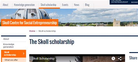 Skoll Mba Scholarships by Of Oxford Sa 239 D Business School Scholarships Uk