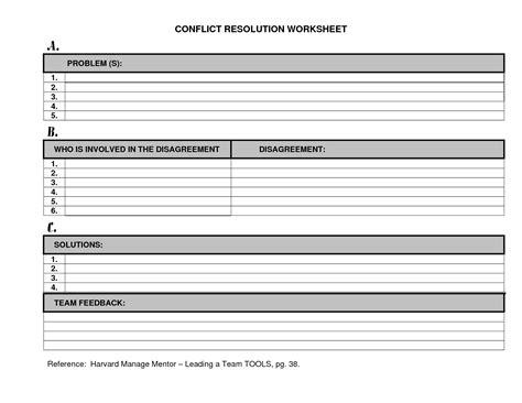 12 best images of conflict resolution skills worksheets
