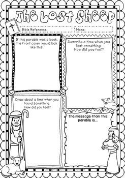 Parables of Jesus ~ Worksheets ~ The Lost Sheep, Prodigal
