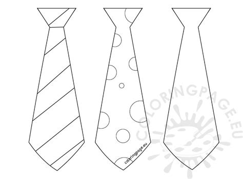 father s day craft three tie template coloring page