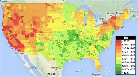 usa gas prices map how the price of impacts your business