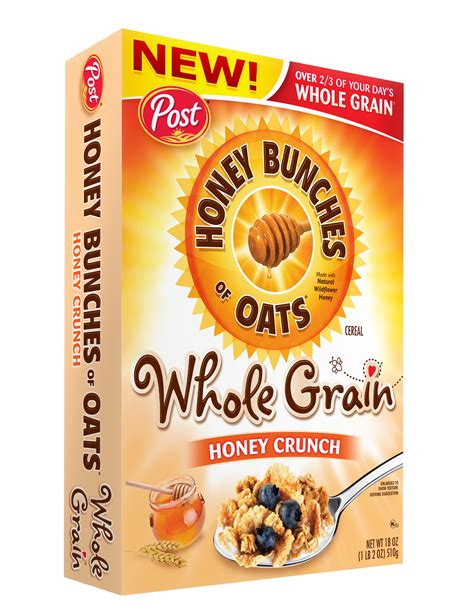 9 whole grain crunch cereal post foods llc announces honey bunches of oats 174 whole
