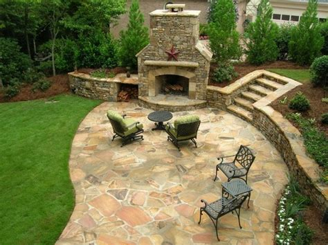 stone backyard patio flagstone patio pictures and ideas